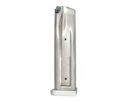 SPS 23 Round .38 Super/9mm Detachable Magazine W/ Aluminum Base, Silver - MHA140-38