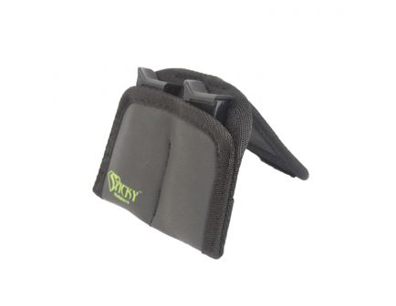 Sticky Holsters Dual Mini Mag Pouch, Black with Green Logo - DMMP
