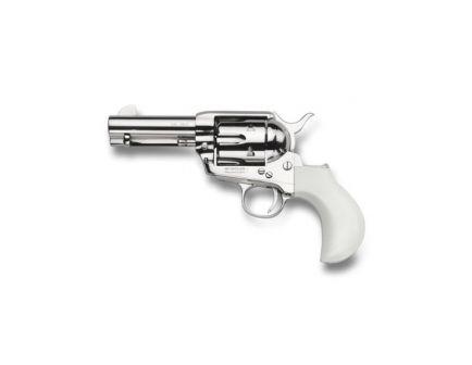 Taylors & Company 1873 Nickel Flattop Ivory Birdshead .45 LC Revolver, Nickel Plated - OG1417