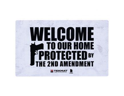 "TekMat 2nd Amendment Door Mat, 42"" W x 25"" H x 0.125"" T, White/Black - 42-2AMENDMENT"