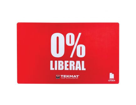 "TekMat Zero Percent Liberal Door Mat, 42"" W x 25"" H x 0.125"" T, Red - 42-LIBERAL"