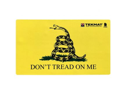 "TekMat Don't Tread on Me Door Mat, 42"" W x 25"" H x 0.125"" T, Yellow/Black - 42-TREAD"