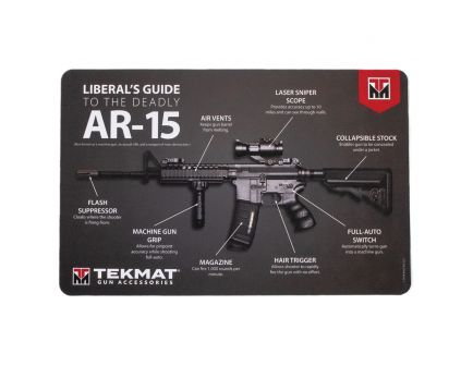 "TekMat Liberal's Guide to the AR-15 Gun Cleaning Mat, 17"" W x 11"" H x 0.125"" T, Black - R17-AR15-MEDIA"