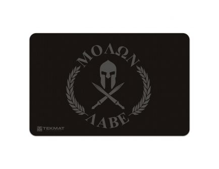 "TekMat Molon Labe ""Come and Take Them"" Gun Cleaning Mat, 17"" W x 11"" H x 0.125"" T, Black/Gray - R17-MOLONLABE"