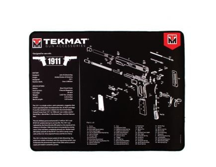 "TekMat 1911 Ultra Premium Gun Cleaning Mat, 20"" W x 15"" Hx 0.25"" T, Multi-Color - R20-1911"