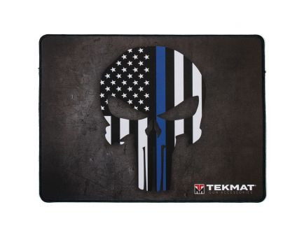 "TekMat Thin Blue Line Punisher Police Support Ultra Premium Gun Cleaning Mat, 20"" W x 15"" Hx 0.25"" T, Black/White/Blue - R20-PUNISHER"