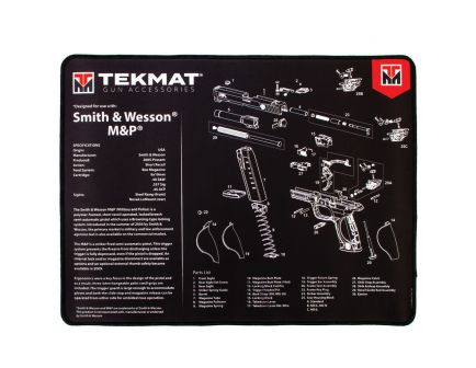 "TekMat Smith & Wesson M&P Ultra Premium Gun Cleaning Mat, 20"" W x 15"" Hx 0.25"" T, Black/White - R20SWMP"