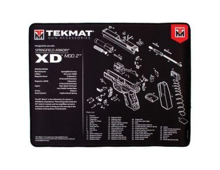 "TekMat Springfield Armory XD MOD2 Ultra Premium Gun Cleaning Mat, 20"" W x 15"" Hx 0.25"" T, Black/White - R20-XDMOD2"