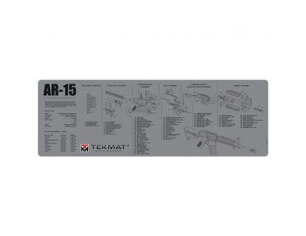 "TekMat AR-15 Parts Diagram Gun Cleaning Mat, 36"" W x 12"" H x 0.125"" T, Gray - R36-AR15-GY"