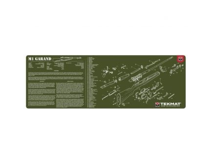 "TekMat M1 Garand OD Gun Cleaning Mat, 17"" W x 11"" H x 0.125"" T, Olive Drab Green - R36-M1GARAND"