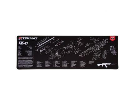 """TekMat AK47 Ultra Premium Gun Cleaning Mat, 44"""" W x 15"""" Hx 0.25"""" T, Black/White - R44-AK47"""