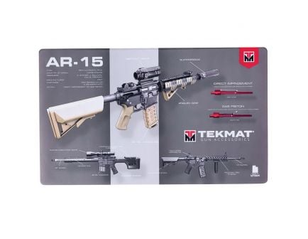 "TekMat AR-15 Ultra Premium Weapons Platform Design Gun Cleaning Mat, 44"" W x 15"" Hx 0.25"" T, Multi-Color - R44-AR15-WPD"