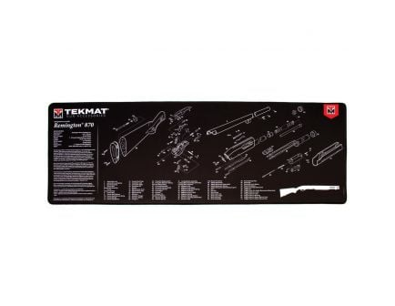 "TekMat Remington 870 Ultra Premium Gun Cleaning Mat, 44"" W x 15"" Hx 0.25"" T, Black/White - R44-REM-870"