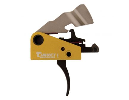 Timney Triggers Featherweight Curved Drop-in Single-Stage Trigger for FN SCAR-17 Rifles, Black/Gold - 691S