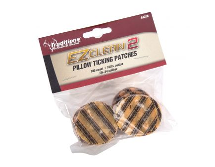 Traditions Firearms EZ Clean 2 Pillow Ticking Patches, .50 to .54, 100/bag - A1286
