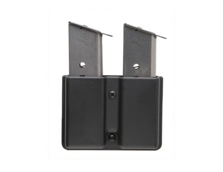 Uncle Mike's Double Row Double Magazine Case for 9mm/40 Cal Magazines, Smooth Black - 51361