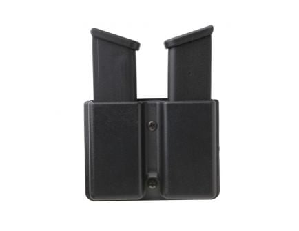 Uncle Mike's Double Row Double Magazine Case for 10mm/45 Cal Magazines, Smooth Black - 51362