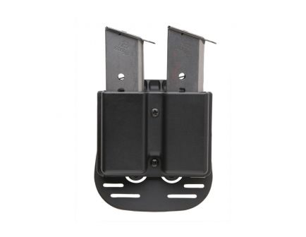 Uncle Mike's Single Row Double Magazine Case, Belt Clip Mount, Smooth Black - 51371
