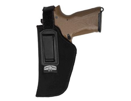 Uncle Mike's Size #15 Left Hand Concealed Carry IWB Holster w/ Retention Strap, Textured Black - 76152