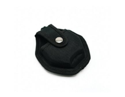 CampCo Handcuff Case w/ Metal Pocket Clip and Key Holder, Black - UZICUFFCS