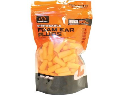 Walkers Game Ear 32 dB Inside the Ear Plug, Orange, 25 Pair/bag - GWPFP25BAG