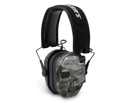 Walkers Game Ear Razor Slim 27 dB Over the Head Digital Passive Earmuff, ATACS Ghost Camo - GWPDRSEMGST
