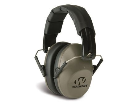 Walkers Game Ear 22 dB Over the Head Pro Low-Profile Folding Earmuff, Flat Dark Earth - GWPFPM1FDE