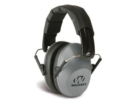 Walkers Game Ear 22 dB Over the Head Pro Low-Profile Folding Earmuff, Gray - GWPFPM1GY