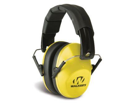 Walkers Game Ear 22 dB Over the Head Pro Low-Profile Folding Earmuff, Yellow - GWPFPM1YL