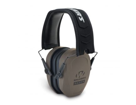 Walkers Game Ear Razor Slim 27 dB Over the Head Passive Earmuff, Flat Dark Earth - GWPRSMPASFDE