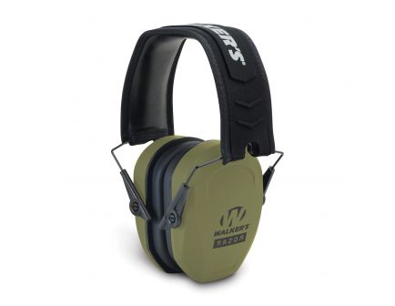 Walkers Game Ear Razor Slim 27 dB Over the Head Passive Earmuff, Olive Drab Green - GWPRSMPASODG