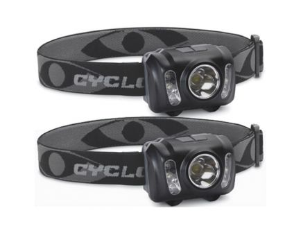 Cyclops 210 lm LED Adjustable Headlamp, Black - CYC-HL210-2PK