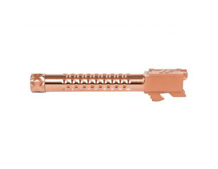 ZevTech Optimized Match Grade Threaded Barrel for Glock 17 Gen 1-4 Pistol, Bronze - BBL-17-OPT-TH-BRZ