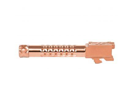 ZevTech Optimized Match Grade Threaded Barrel for Glock 19 Gen 1-5 Pistol, Bronze - BBL-19-OPT-TH-BRZ