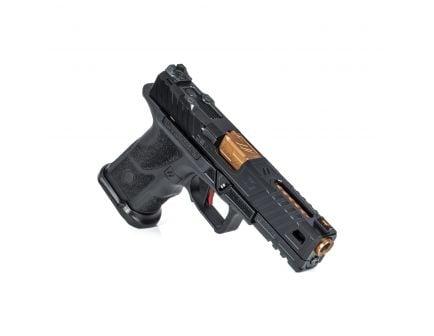 """ZevTech OZ-9 Standard 4.49"""" 9mm Pistol, Black/Bronze - OZ9-STD-COVERT-B-BRZ"""