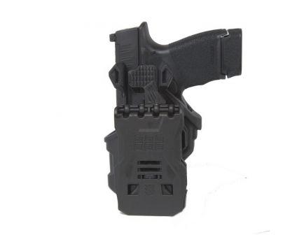 Blackhawk T-Series L2C Size Right Hand Glock 17 Concealment OWB Holster, Matte Black - 410700BKR