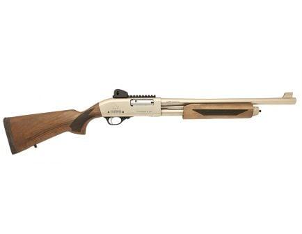 """Black Aces Tactical Pro Series X 18.5"""" 12 Ga Shotgun 3"""" Pump, Silver/Walnut - BATPSXPSW"""
