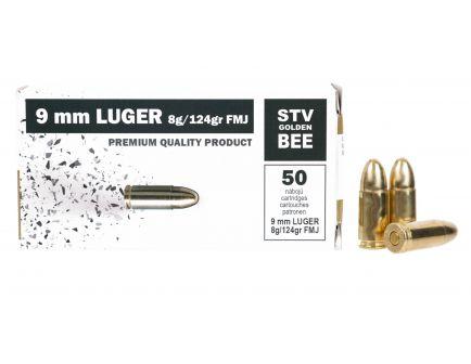 Scorpio 124 gr FMJ 9mm Ammunition, 50 Rounds