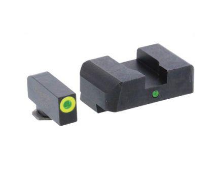 AmeriGlo Pro I-Dot 2 Dot Green Night Sight Set For 9/40/357 Double Stack Glock - GL-301