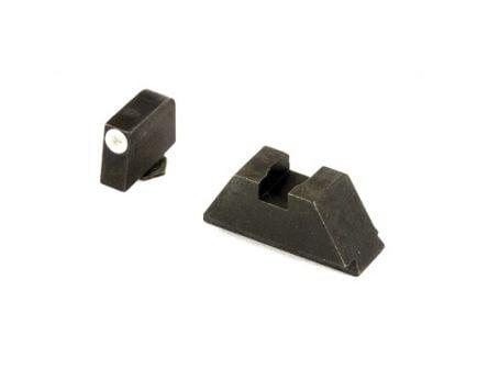AmerGlo Suppressor Height Green Tritium Front Black Rear Sight Set For All Glocks Except 42/43 - GL-411