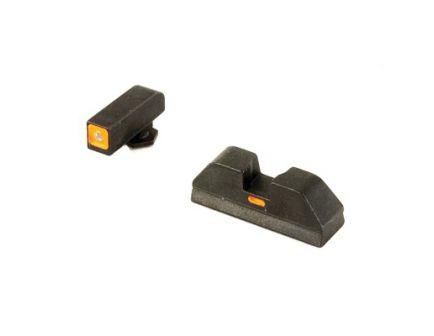 AmeriGlo CAP Sight Set For Glock 20/21/29/30/31/32/36, Green Rear With Orange Outline And Orange Horizontal Dash - GL-617