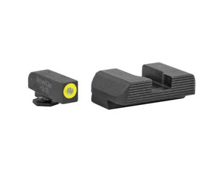 AmeriGlo Protector Night Sights w/ Green Tritium Front & Serrated Rear Fits Various Glock Models- GL-701