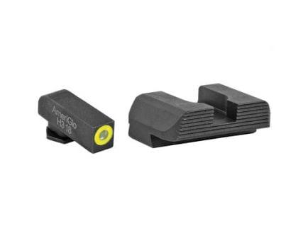 AmeriGlo Protector Glock 42/43 Night Sights, Green Tritium Front Black Serrated Rear - GL-705