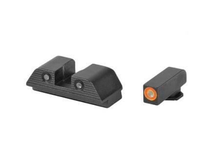 AmeriGlo Trooper Glock 20/21/29/30/31/32/36 Sight Set, Green Front Orange Outline Green Rear - GL-817