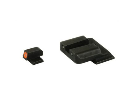 AmeriGlo Spartan Tactical Operator Night Sights For S&W M&P Green Front With Orange Outline Tritium Rear - SW-446