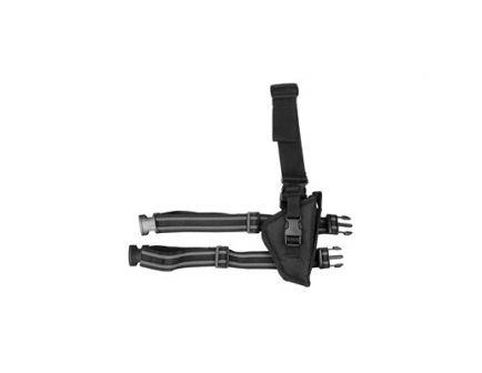 Bulldog Cases Pro Tactical Leg Holster, Fits Md/Lg Frame Auto Handgun RH, Black - WTAC 7R