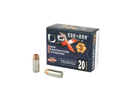 CorBon Deep Penetrating X Bullet 40 S&W Ammo 140 Grain Barnes X, 20 rds/box - DPX40140