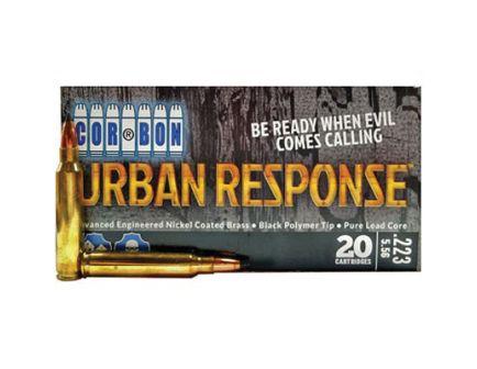 CorBon Urban Response, 223 Remington, 55 Grain, Jacketed Hollow Point, 20 rds/box - UR22355,20