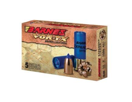 "Barnes VOR-TX 20 Gauge Ammo 3"" 250 Grain Slug Shotshell, 5 rds/box - 20739"