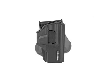 Bulldog Cases Rapid Release RH OWB Paddle Holster For Sig P320, Black - RR-S320